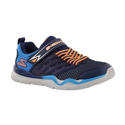 Bys Skech-Train nvy/blu slip on sneaker