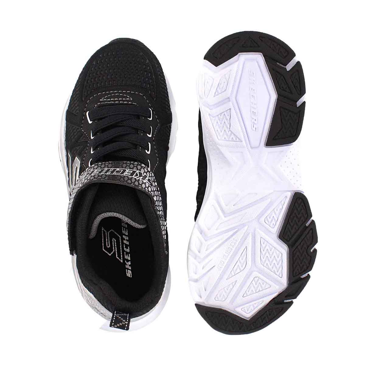 Bys Ultrasonix blk/sliver sneaker
