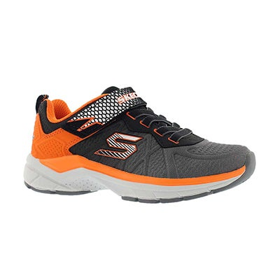 Bys Ultrasonix charcoal/orange sneaker