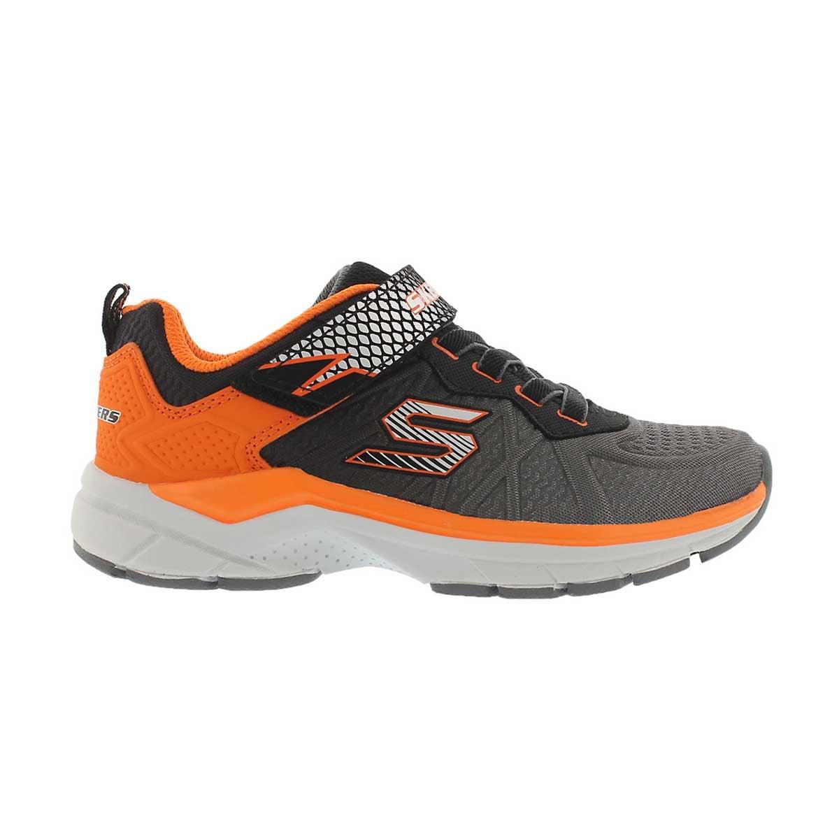 Bys Ultrasonix charcoal/orange sneaker