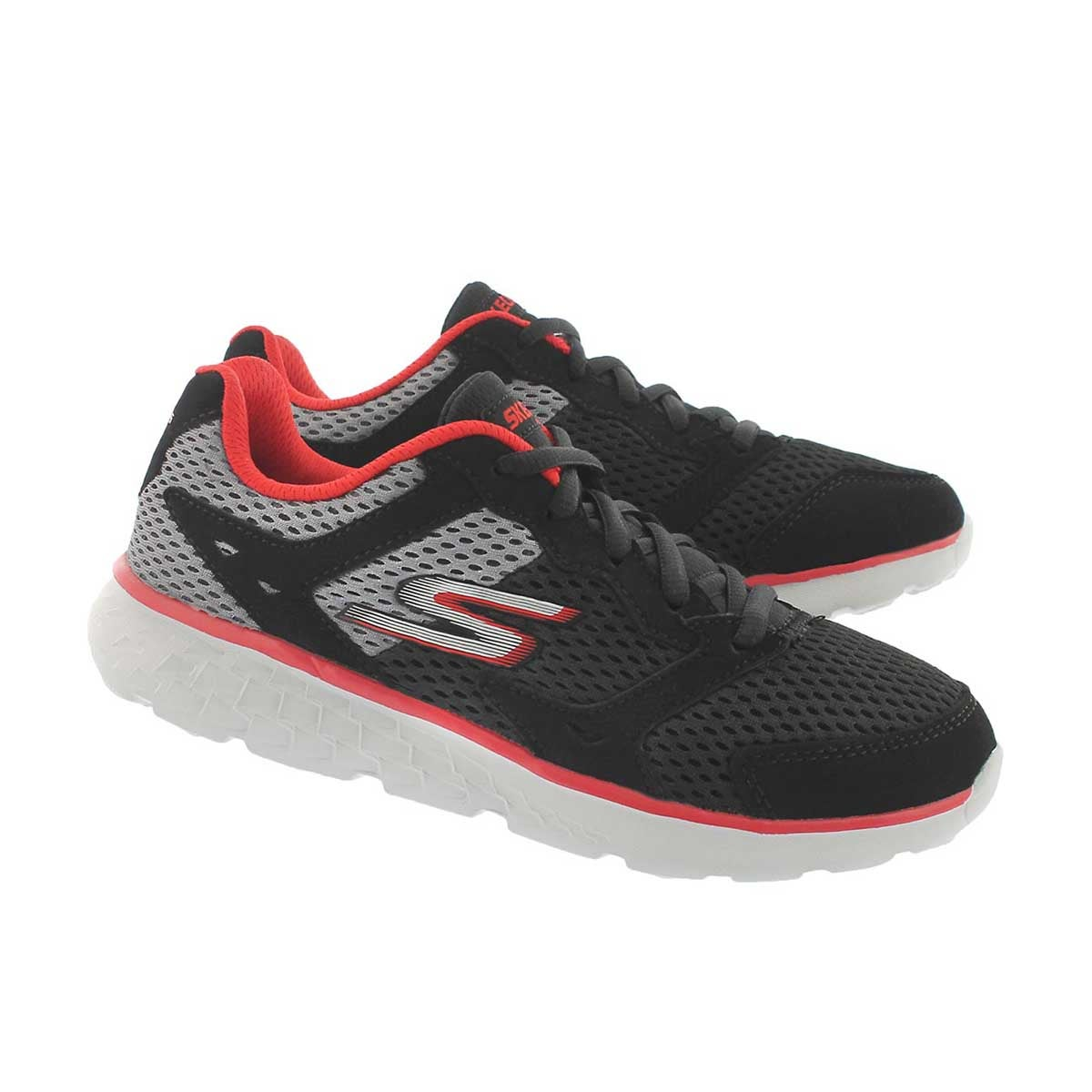 Bys GOrun 400 blk/red lace up sneaker