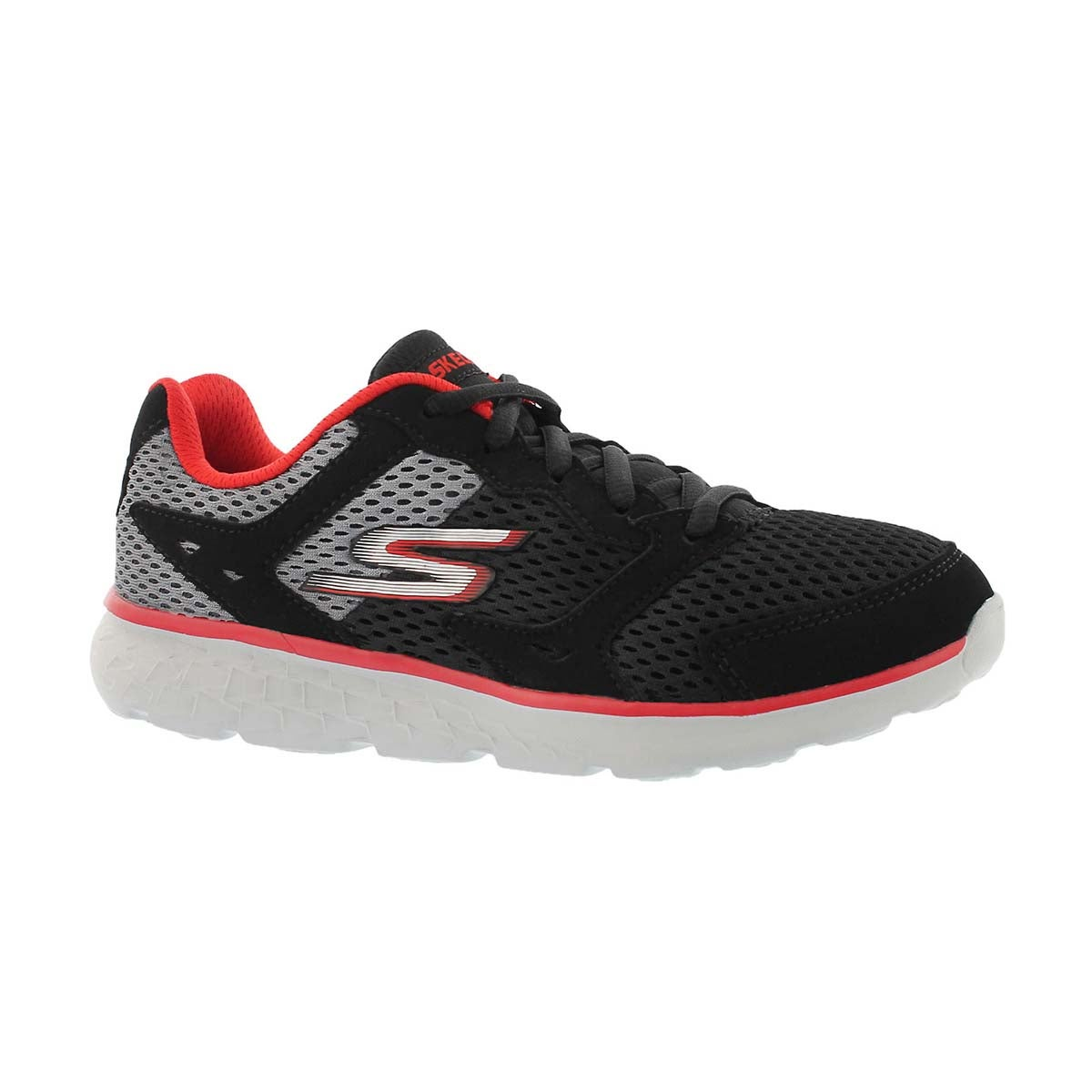 Boys' GOrun 400 black/red lace up sneakers