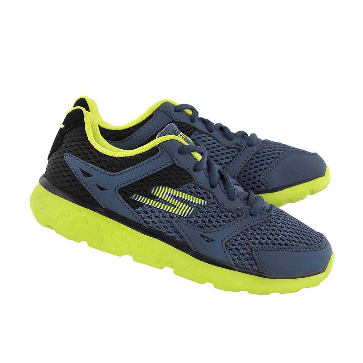 Bys GOrun 400 blue/lime lace up sneaker