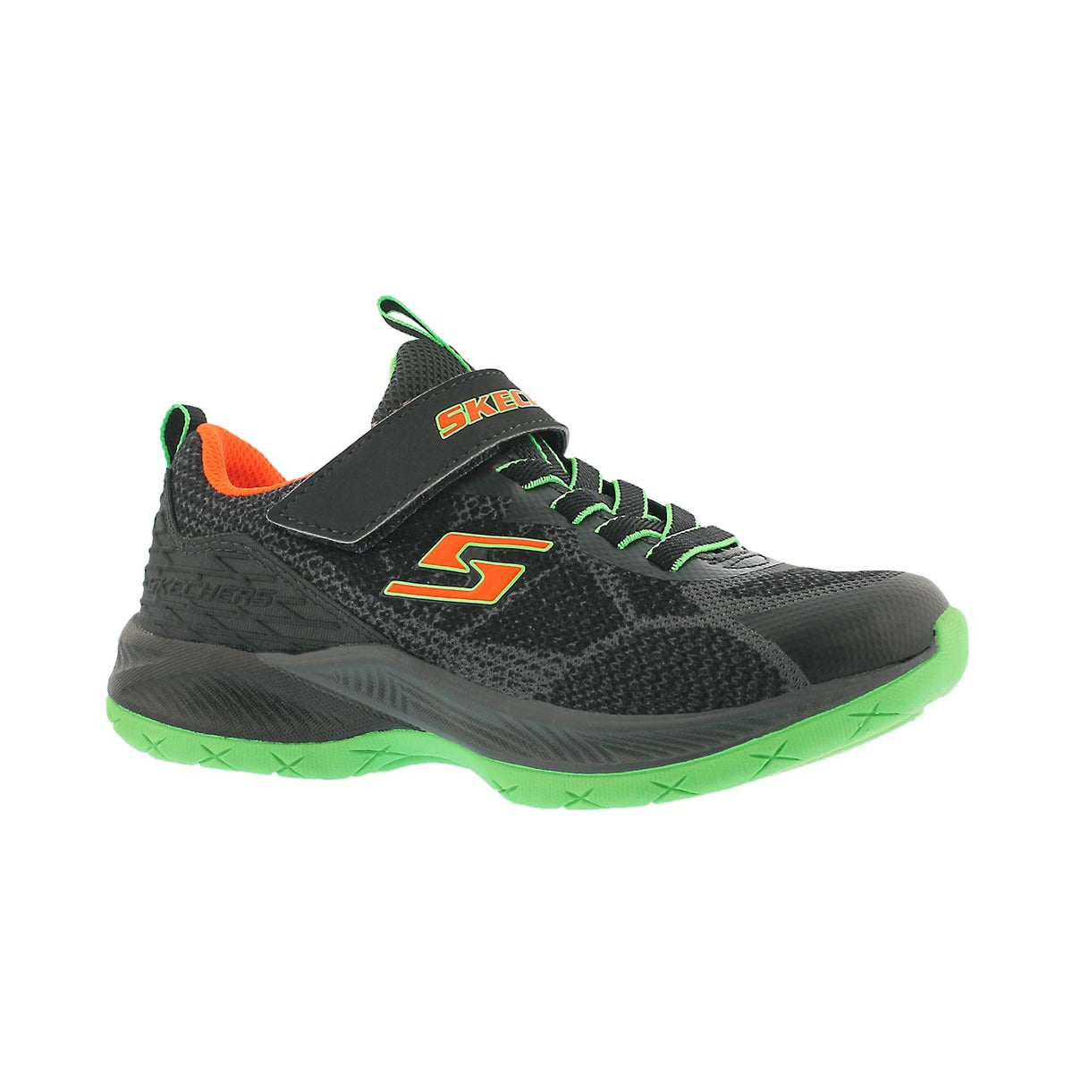 Boys' LUNAR SONIC charcoal/lime sneakers