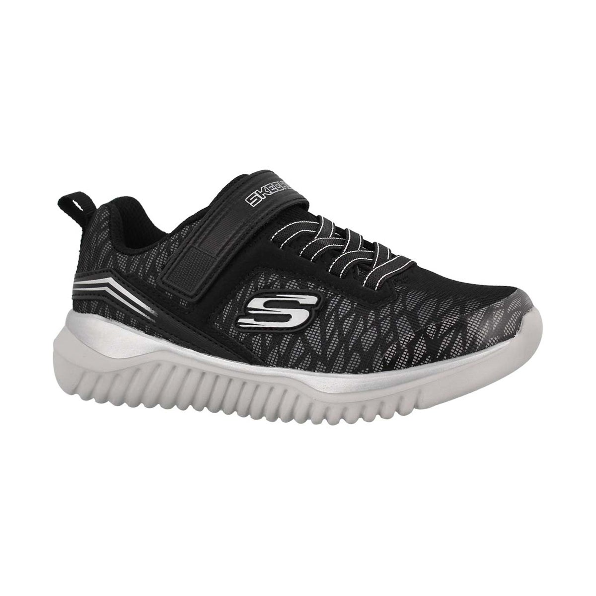 Boys' TURBOSHIFT black/silver sneakers