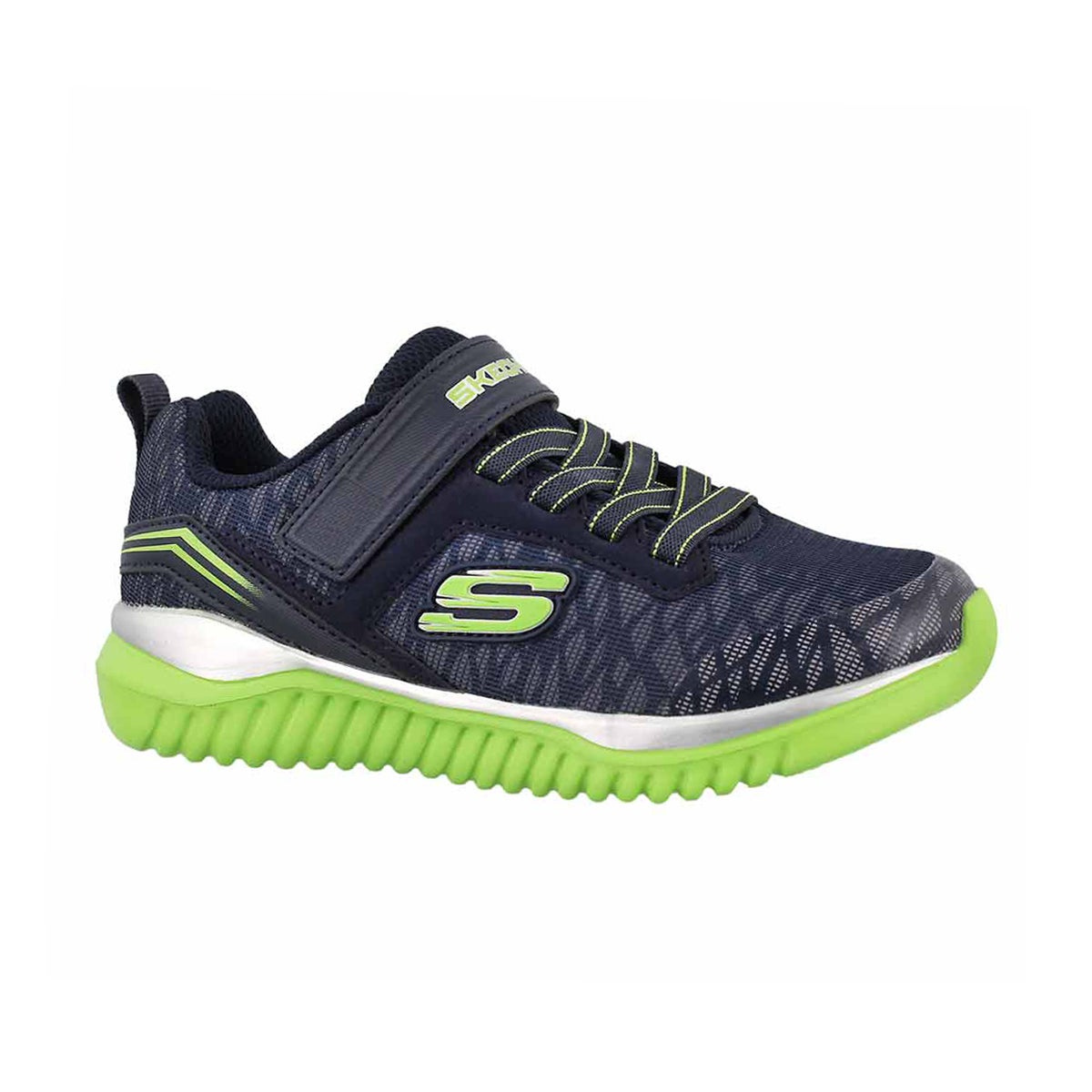 Boys' TURBOSHIFT navy/lime sneakers