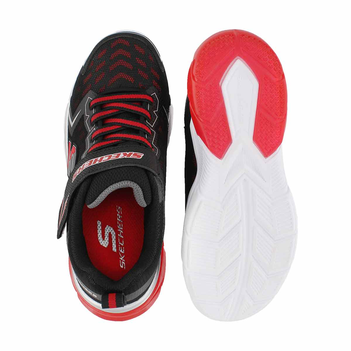Bys Thermoflux NanoGrid blk/red sneaker