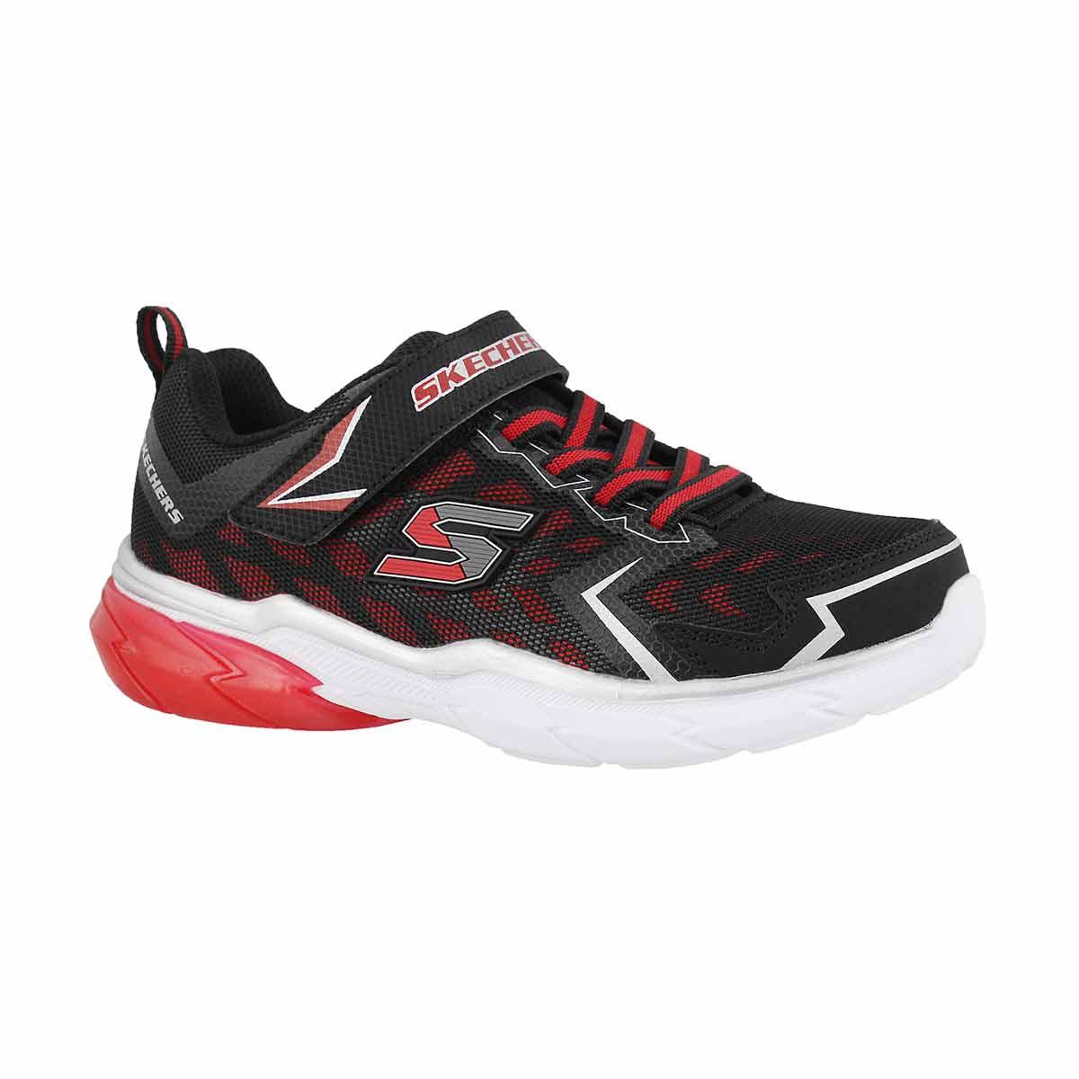 Boys' THERMOFLUX NANO GRID black/red sneakers