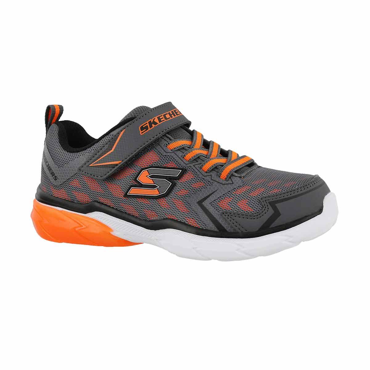 Boys' THERMOFLUX NANO GRID grey/orange sneakers