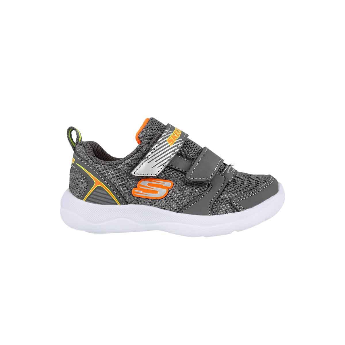 Inf-b Skech-Stepz 2.0 char/orng sneaker