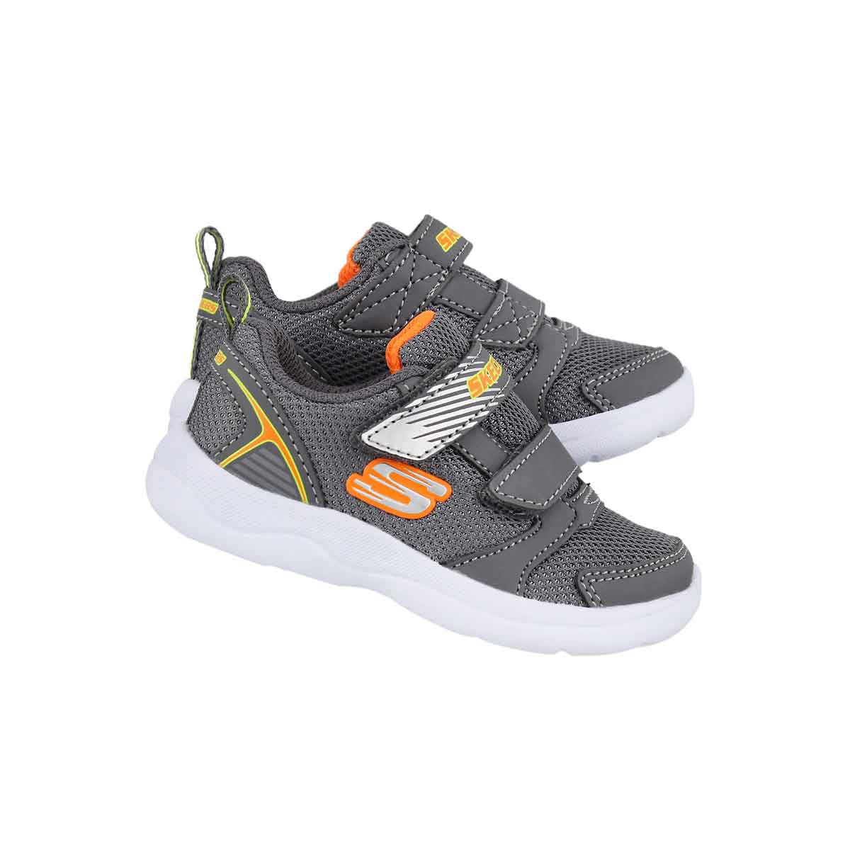 Inf-b Skech-Stepz 2.0 char/orng sneaker