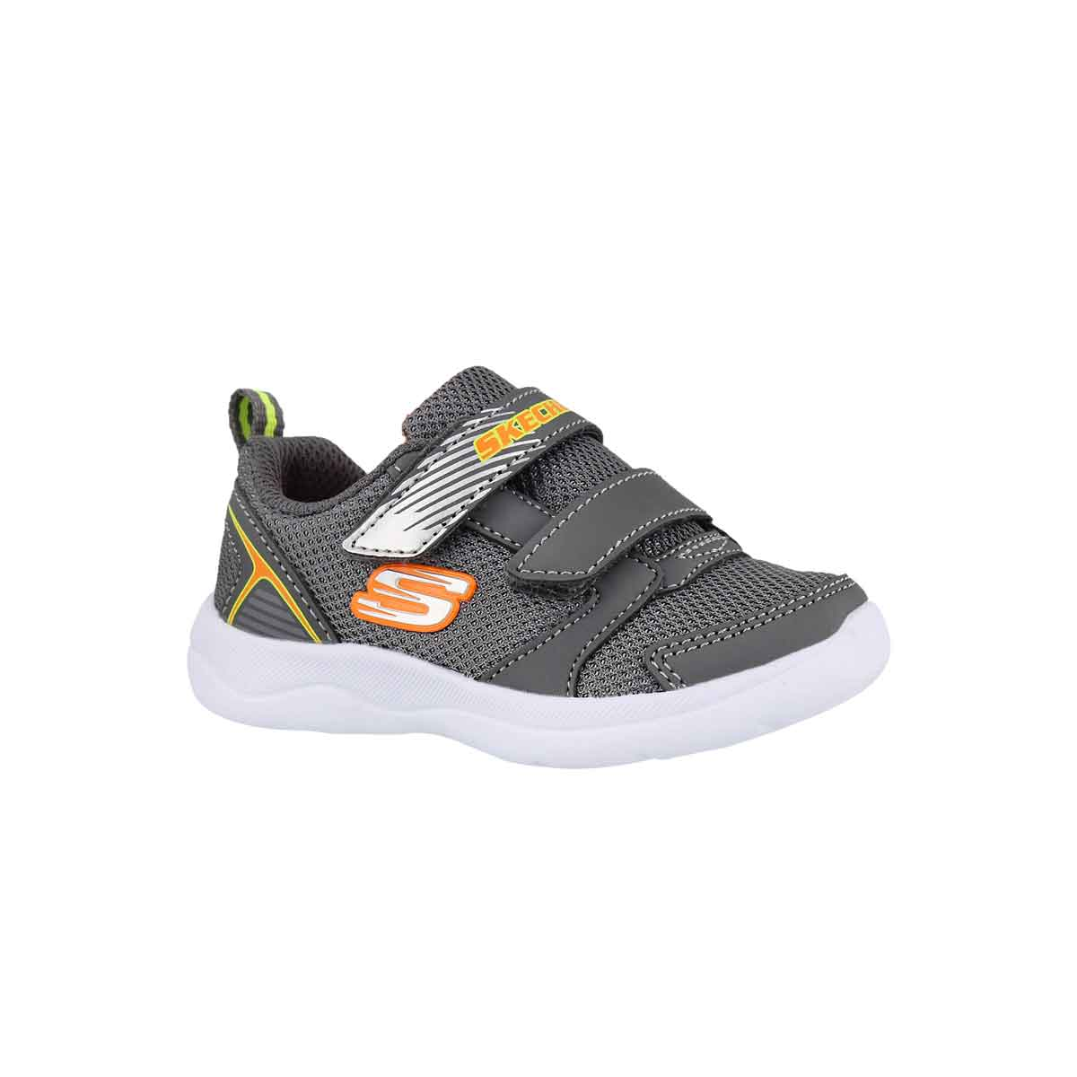 Infants' SKECH-STEPZ 2.0 char/orng sneakers
