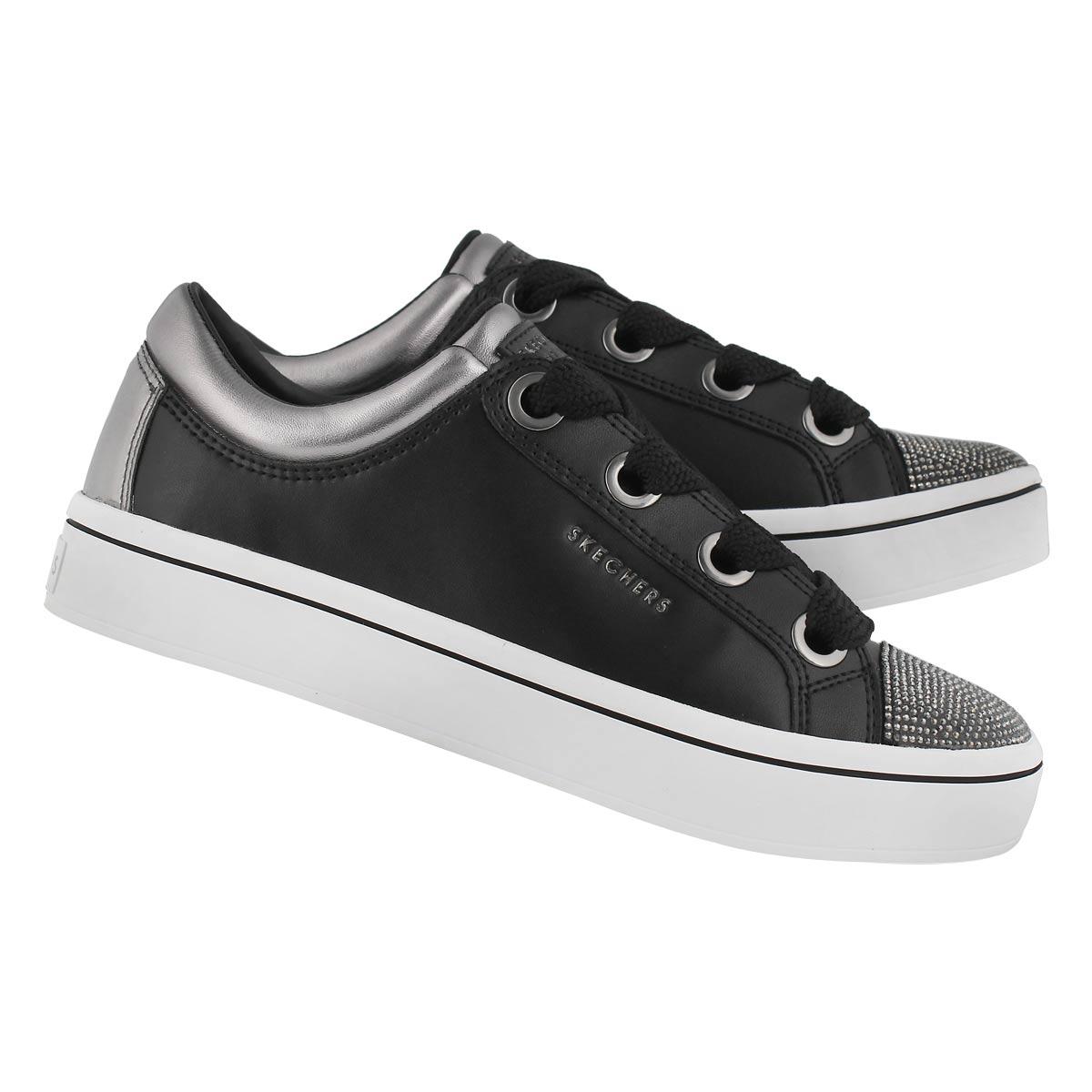 Lds Hi-Lites blk/pew lace up sneaker