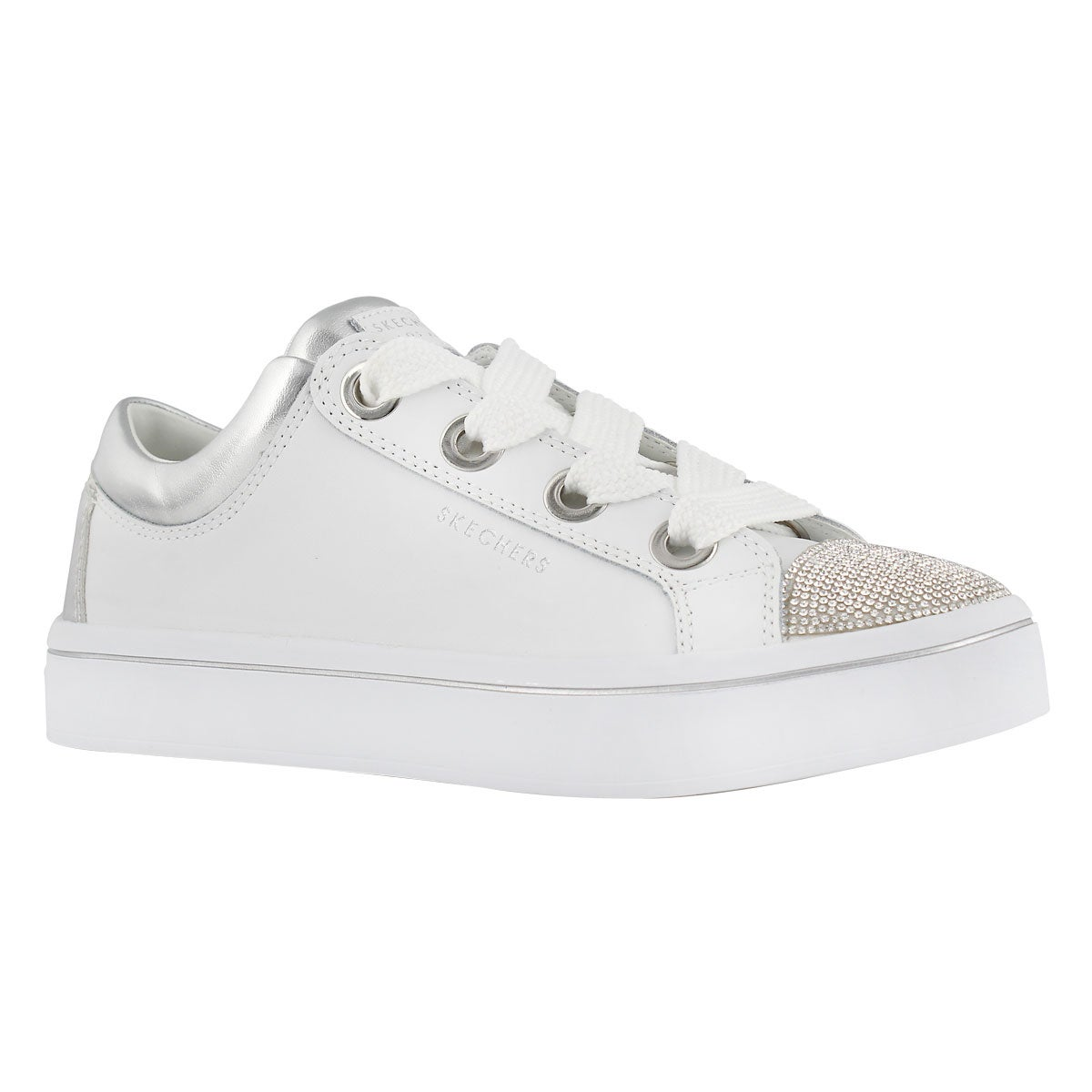 Women's HI-LITES white/silver lace up sneakers