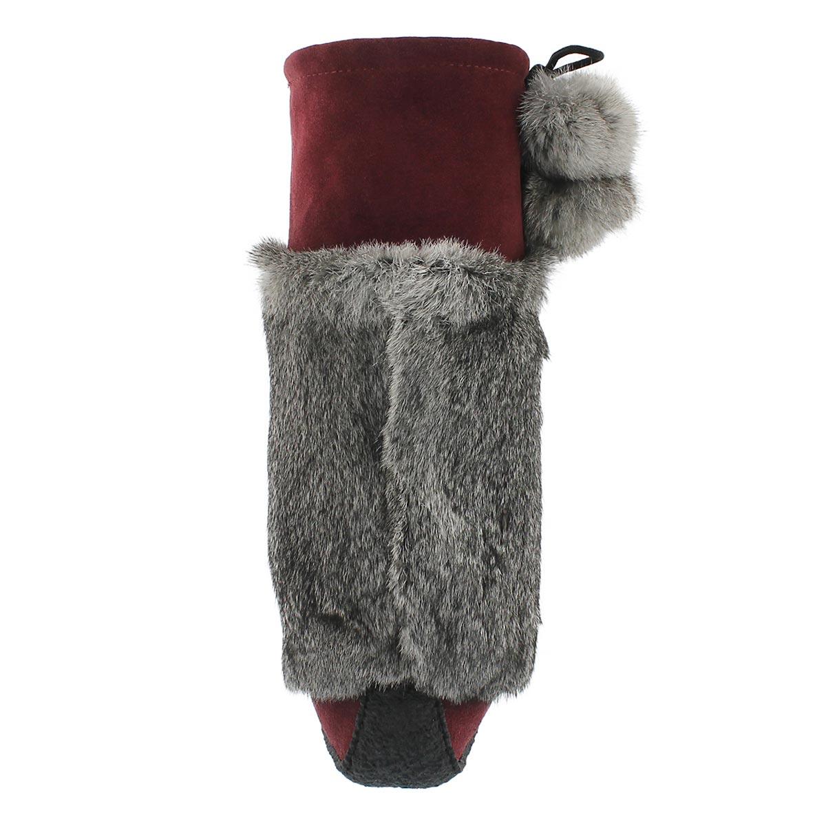 Lds bgdy/gry rabbit fur 16