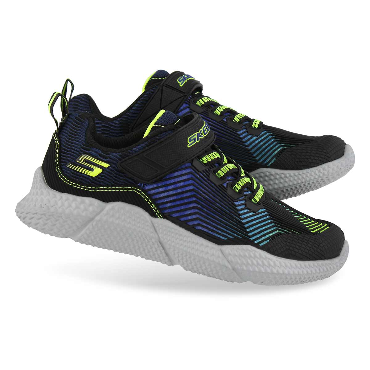 Boys' INTERSECTORS blue/lime sneakers