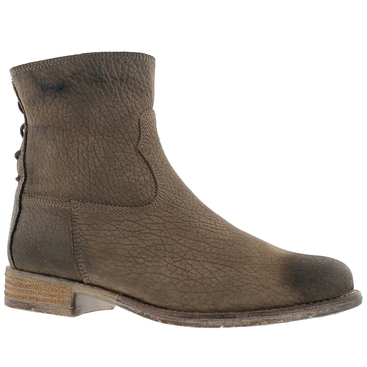 Lds Sienna 01 taupe zip up ankle boot