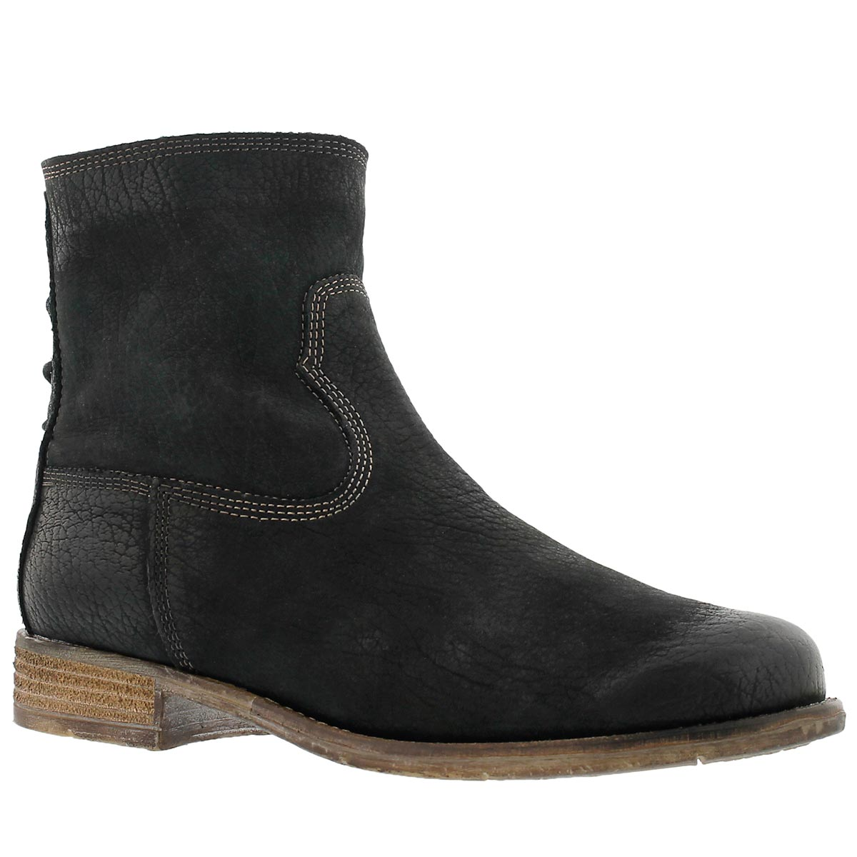 Lds Sienna 01 black zip up ankle boot