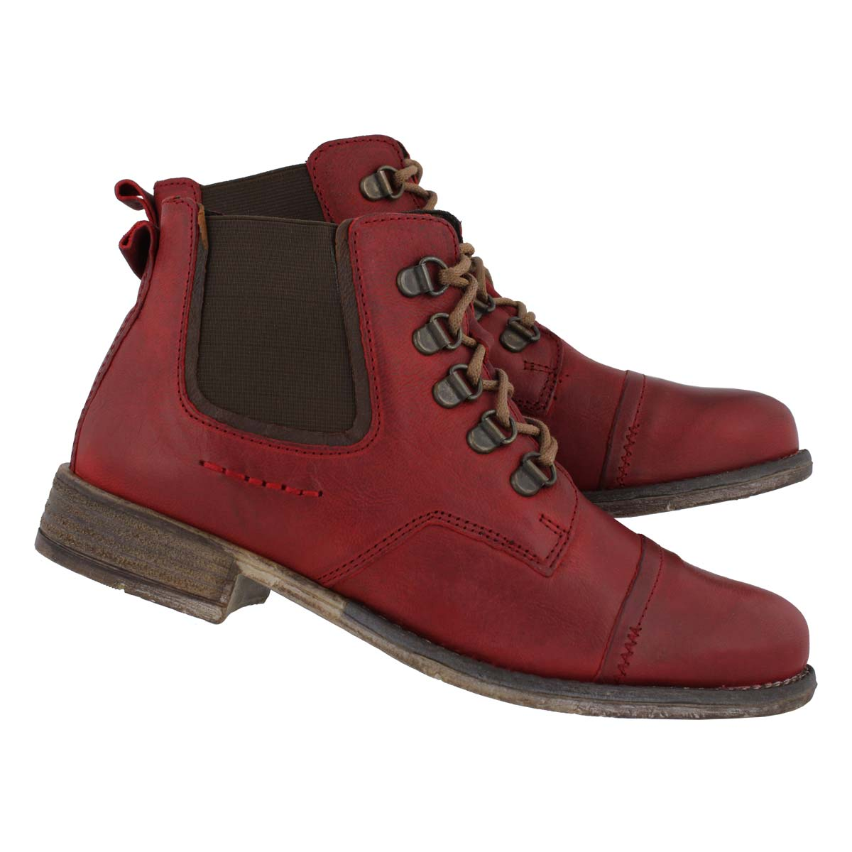 Lds Sienna 09 red/combi slip on bootie