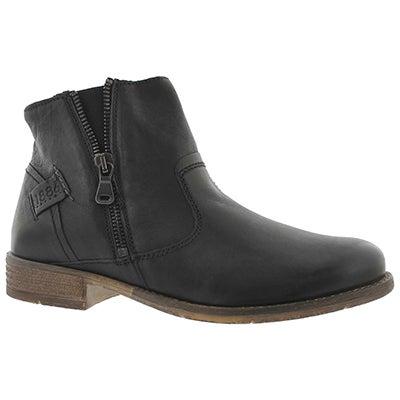 Lds Sienna49 schwarz side zip ankle boot