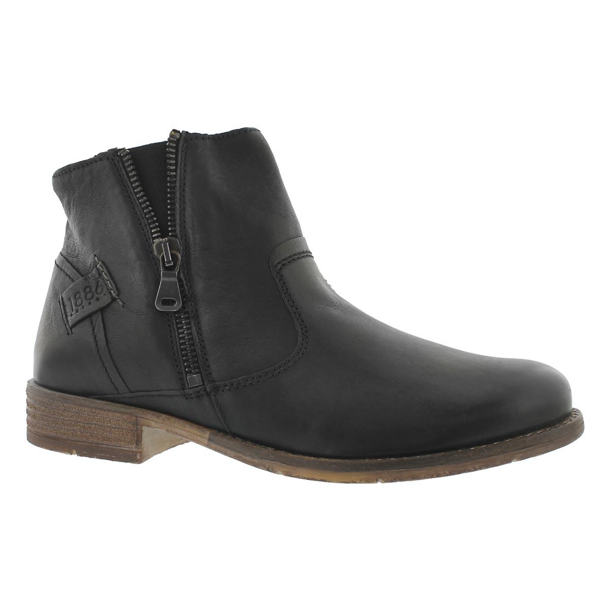 Women's SIENNA 49 schwarz side zip ankle boots