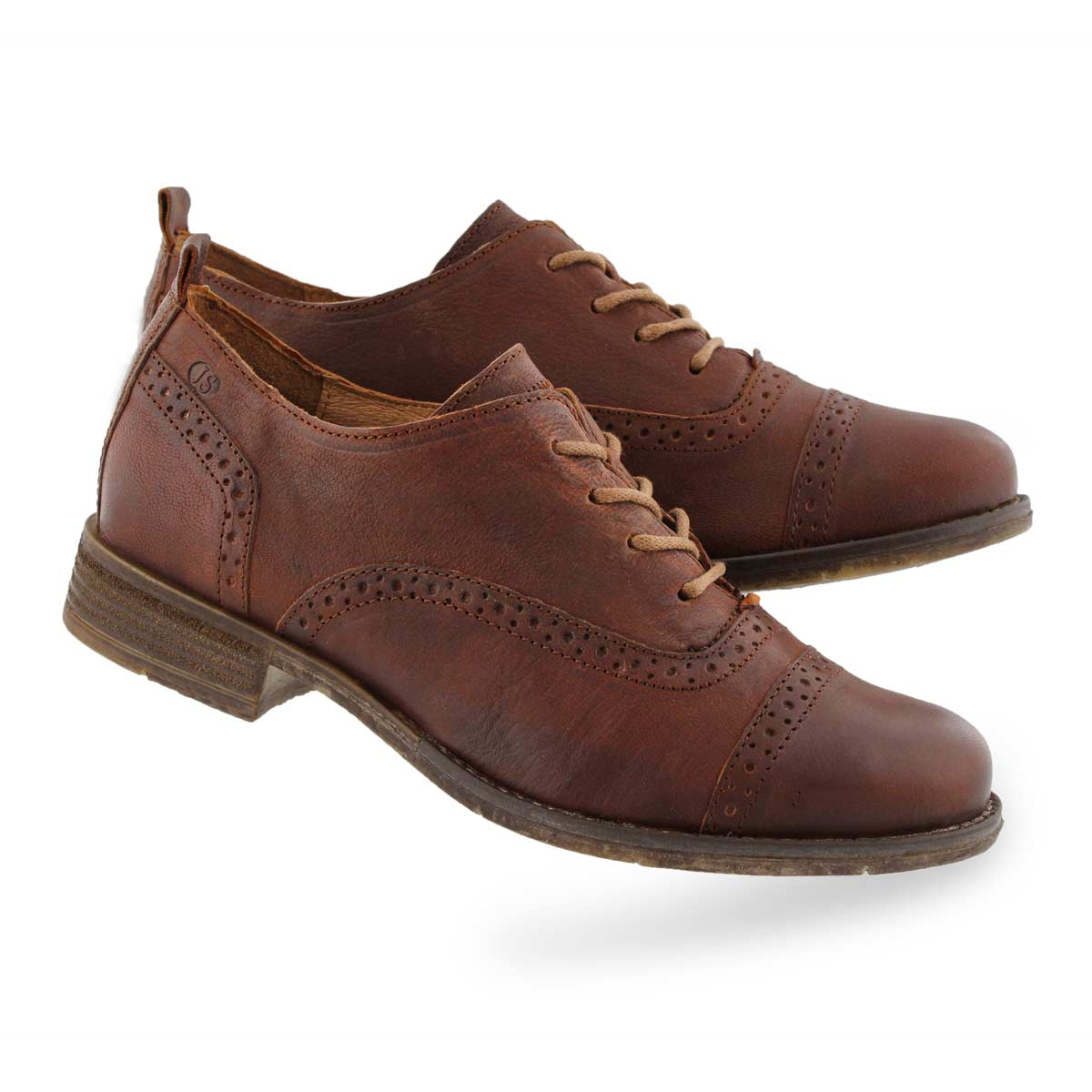 Lds Sienna 73 camel casual oxfords