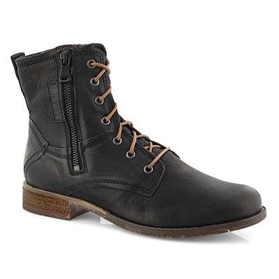 Lds Sienna 78 black side zip combat boot