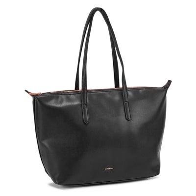 Lds Abbi black zip top shopper tote bag