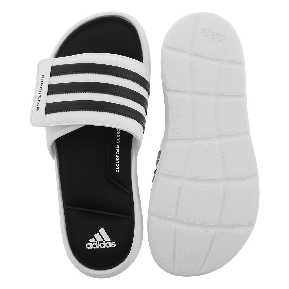 Mns Superstar 5G wht/blk slide sandal