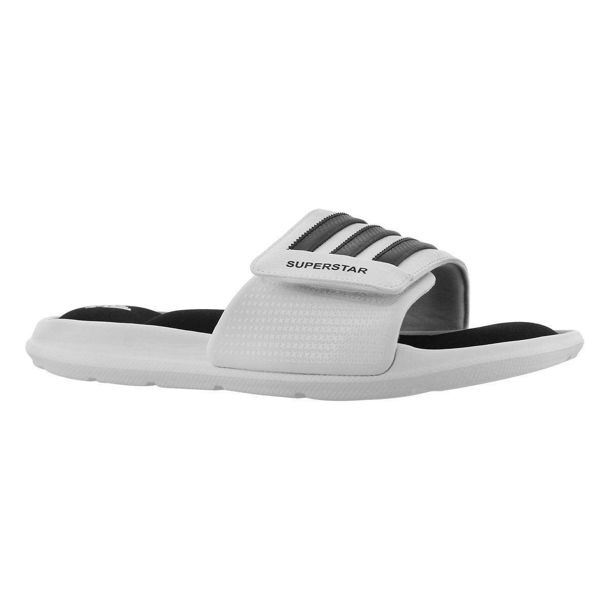 Men's SUPERSTAR 5G wht/blk slide sandals