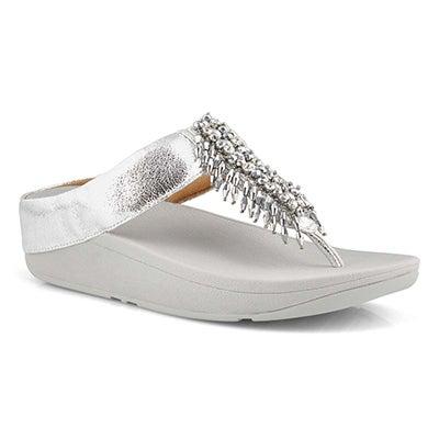 Lds Velma Adorn Toe-Thongs slvr sandal