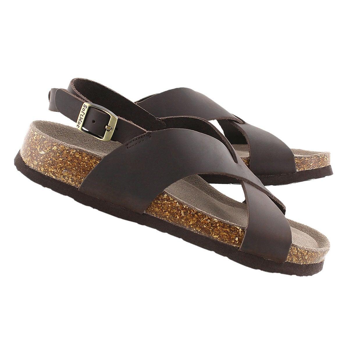 Lds Addy brown crzy memory foam sandal