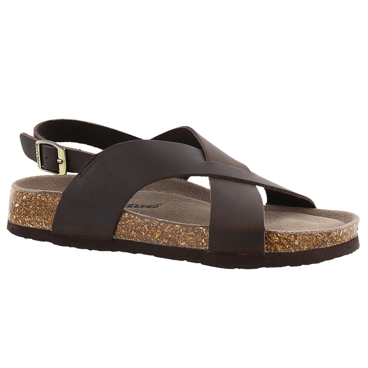 Sandale mousse visc. Addy, brun, femmes