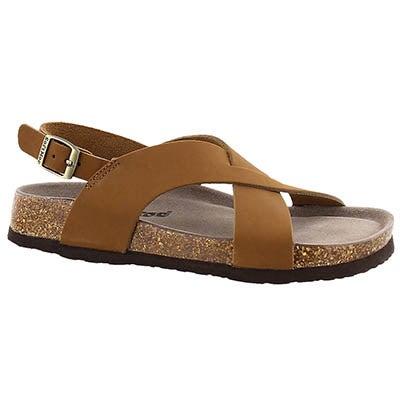 SoftMoc Women's ADDY tan memory foam sandals