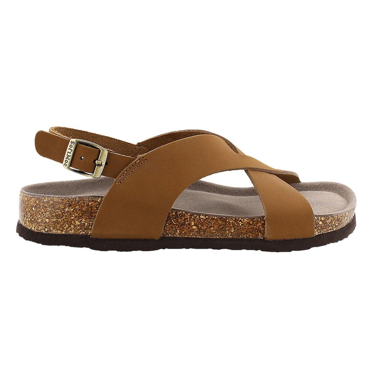 Sandale mousse visc. Addy, havane, femme