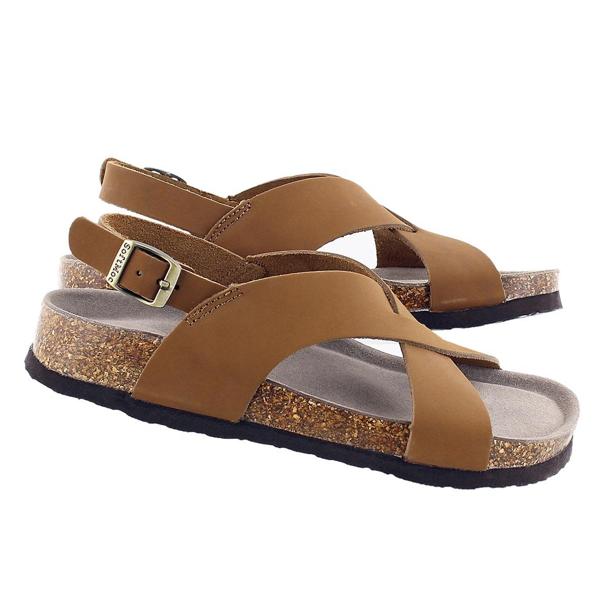 Lds Addy tan crzy memory foam sandal