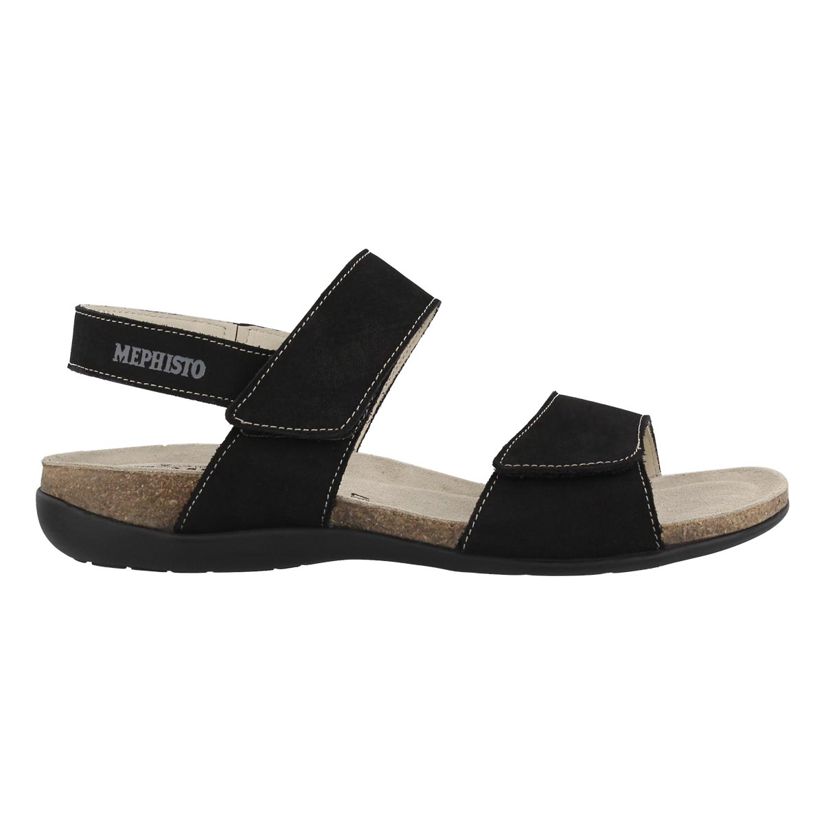 Lds Agave black cork footbed sandal