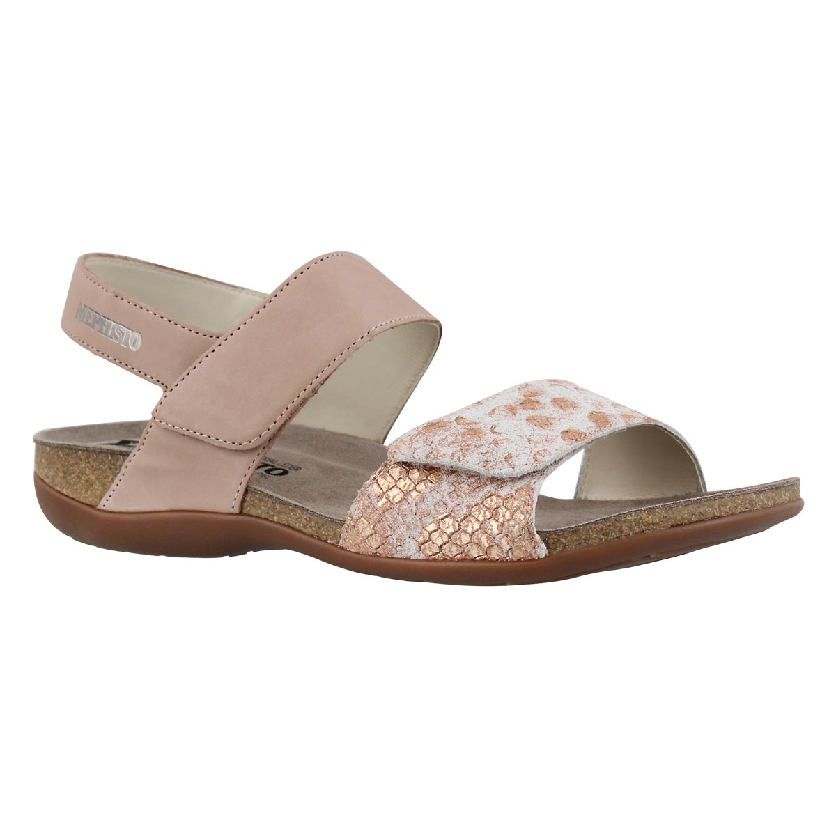 Women's AGAVE nude cork footbed sandals