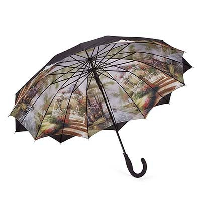 Austin House Panel Stick black umbrella