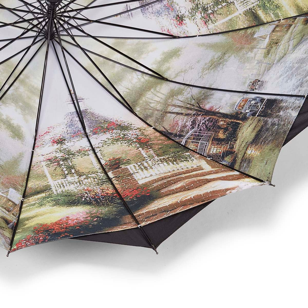 Austin House Panel Stick black umbrella