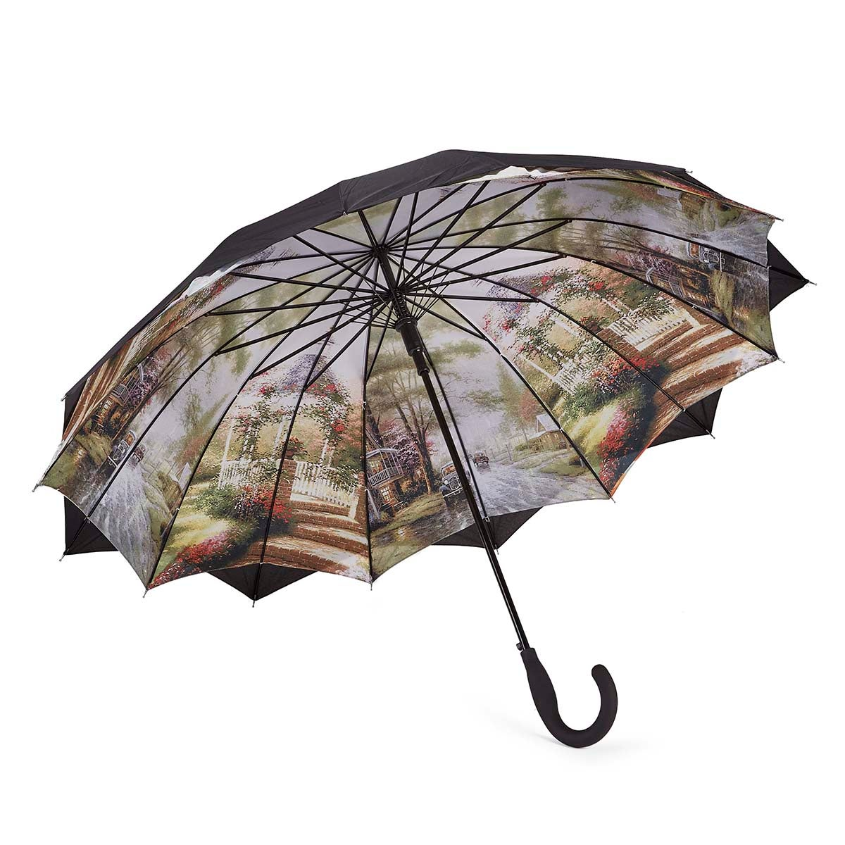 Parapluie Austin House Panel Stick, noir