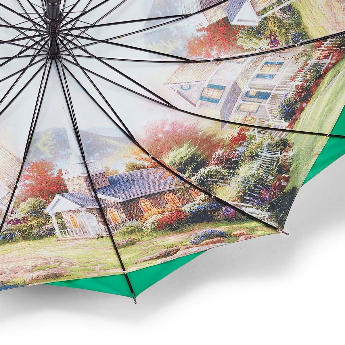 Parapluie Austin House Panel Stick, vert