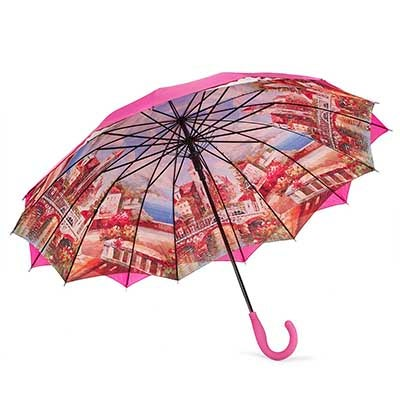 Austin House Panel Stick pink umbrella