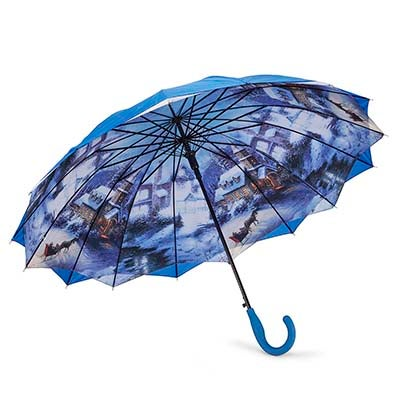 Austin House Panel Stick blue umbrella