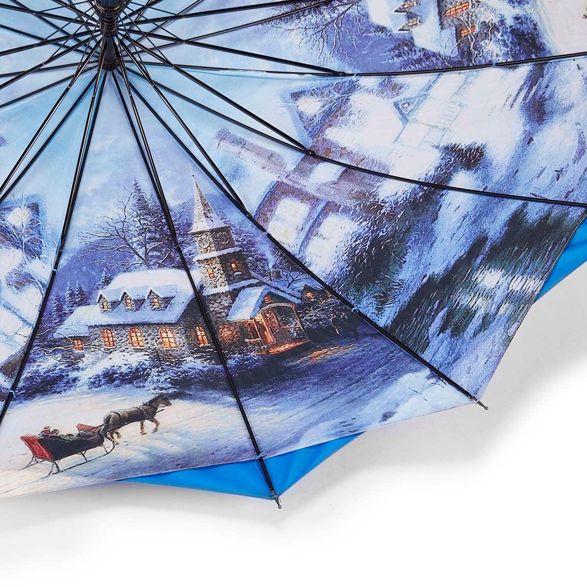 Parapluie Austin House Panel Stick, bleu