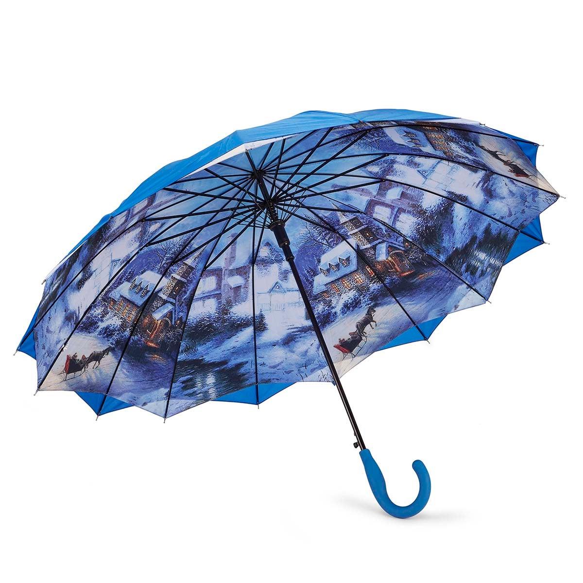 Austin House Panel Stick blue umbrella