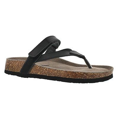 Sandale mousse visc. Aisha, noir, femmes