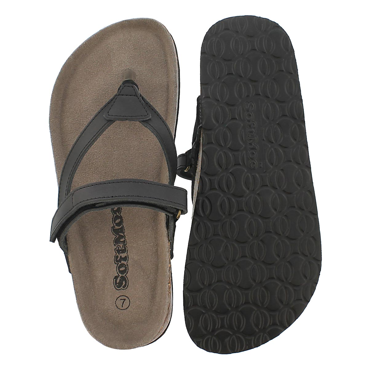 Lds Aisha black memory foam sandal