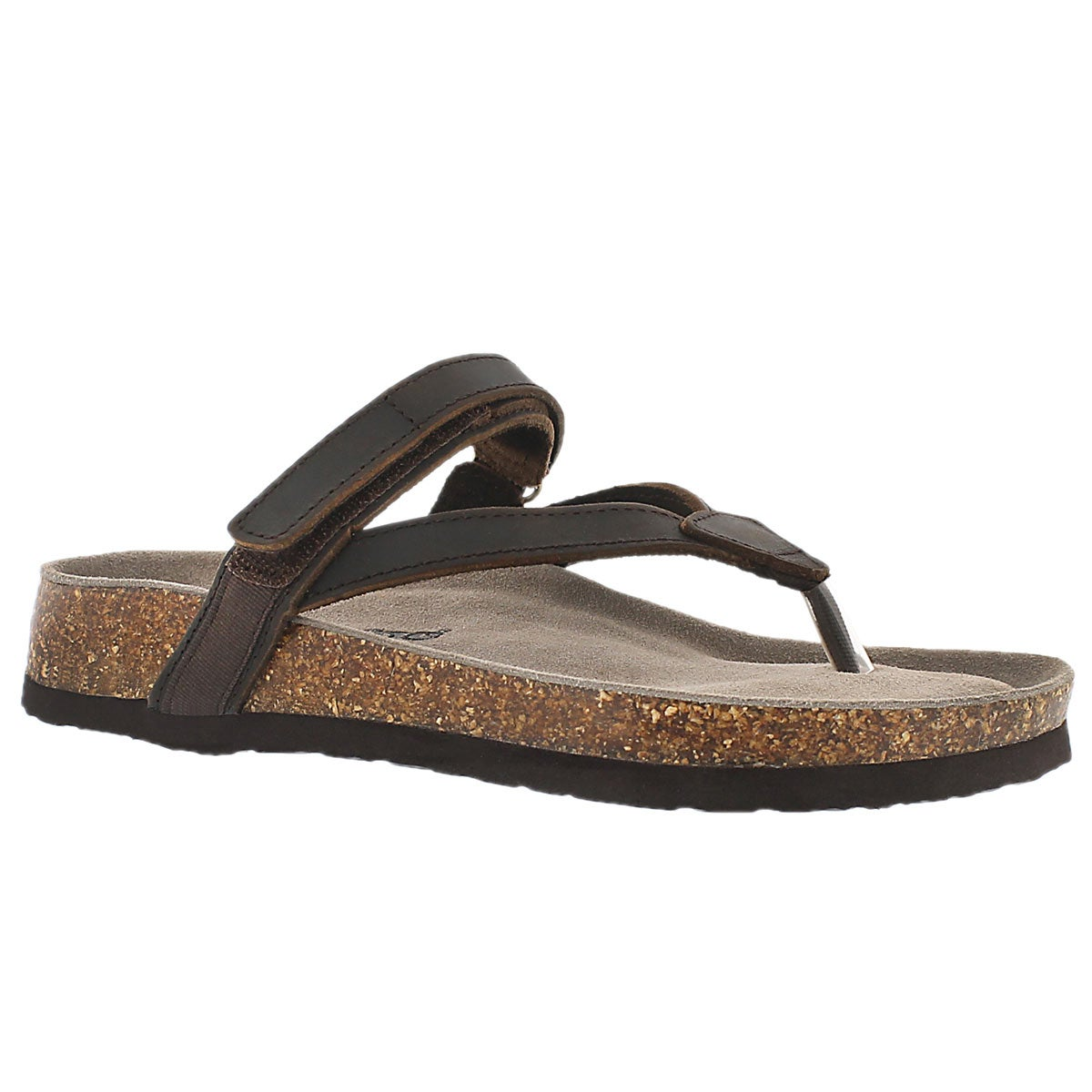 Lds Aisha brown crzy memory foam sandal
