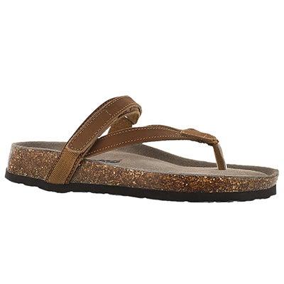 Lds Aisha tan crzy memory foam sandal